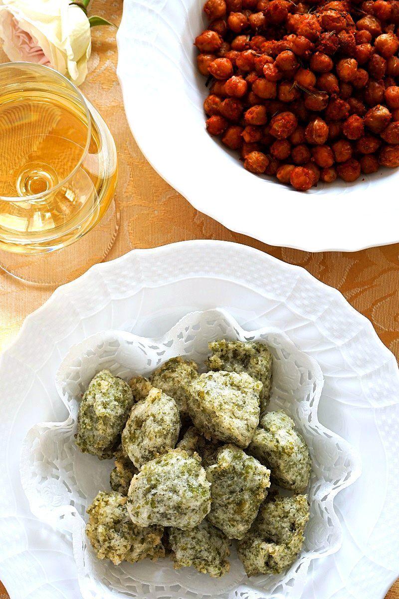 米粉のゼッポリーネ ひよこ豆のオーブン焼き