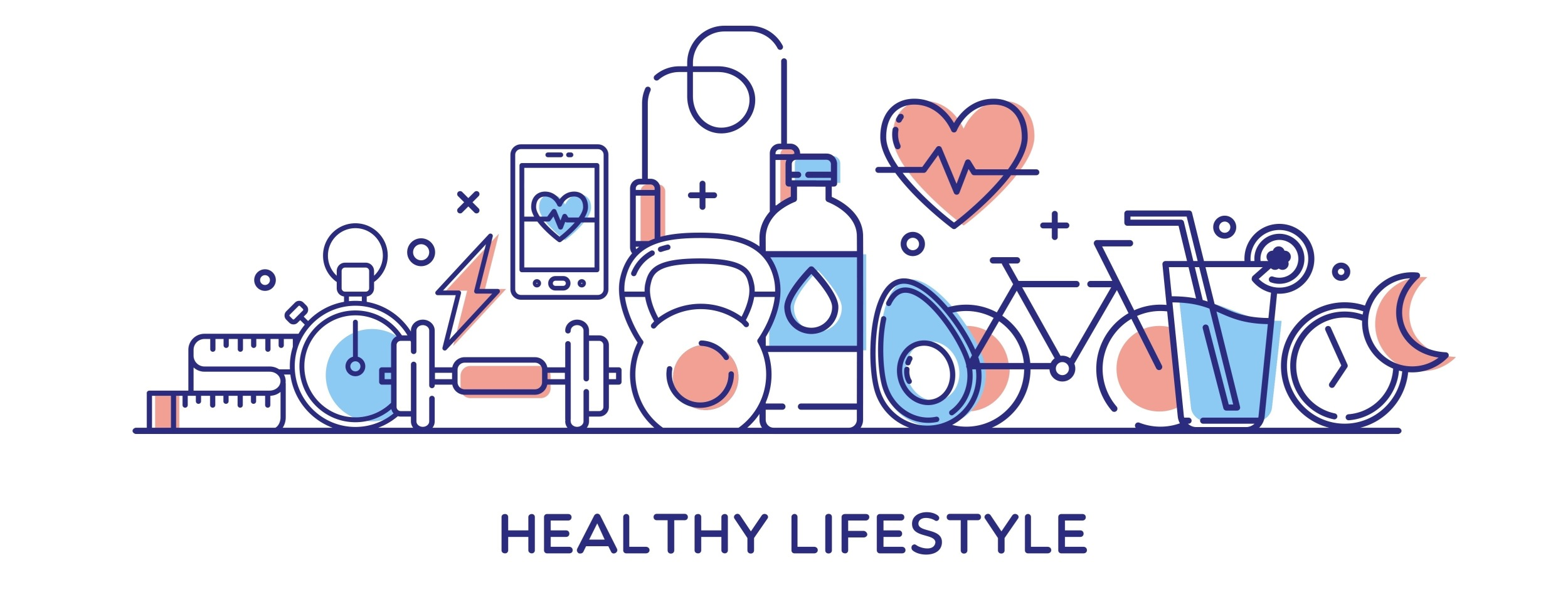 HEALTHY LIFESTYLE イラスト