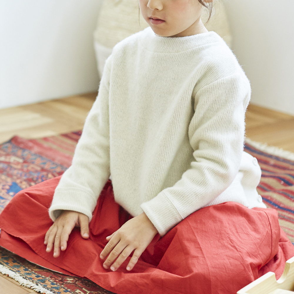 2-way gathered skirt(check×red)